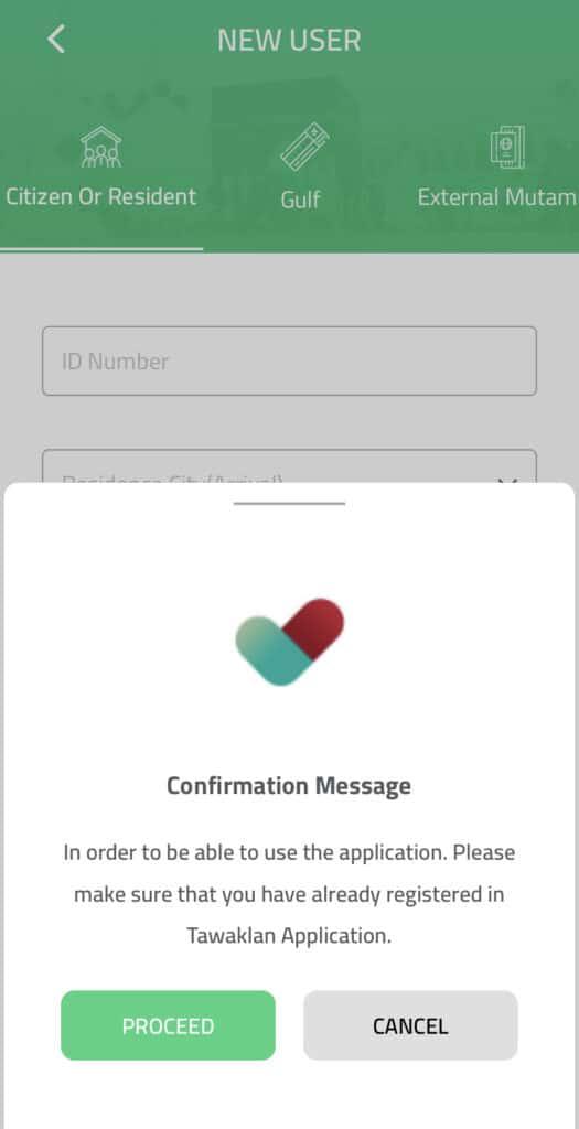 Umrah Guide - Tawaklan App confirmation