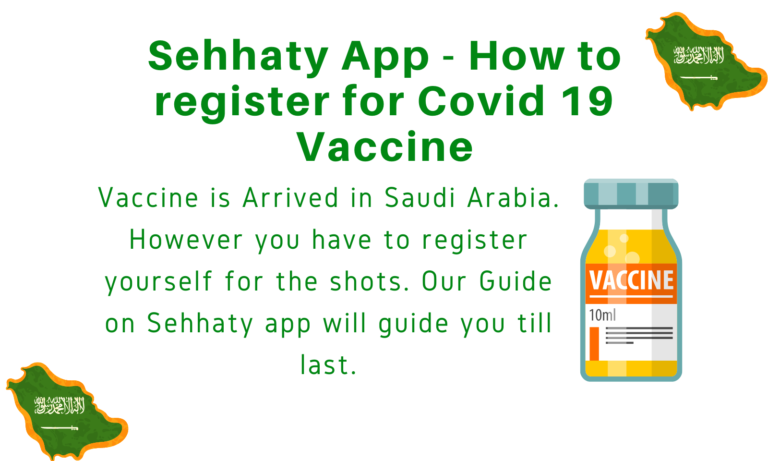 Sehhaty App - How to register for Covid 19 Vaccine
