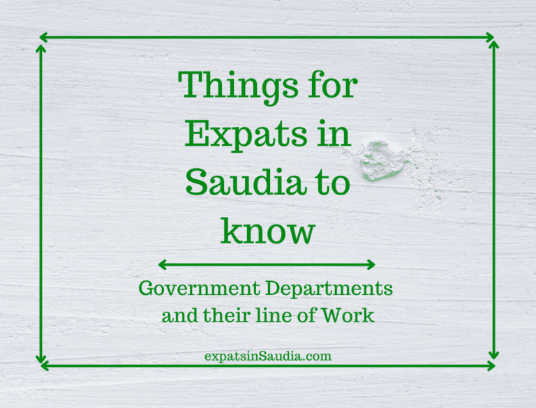 Things to know for Expats in Saudia