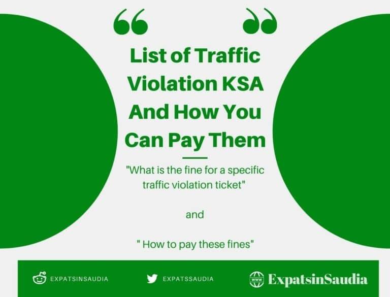 traffic violation ksa