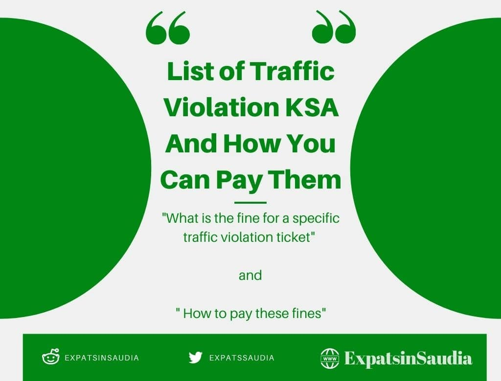 Check how points arabia saudi in violation traffic to Check Fine