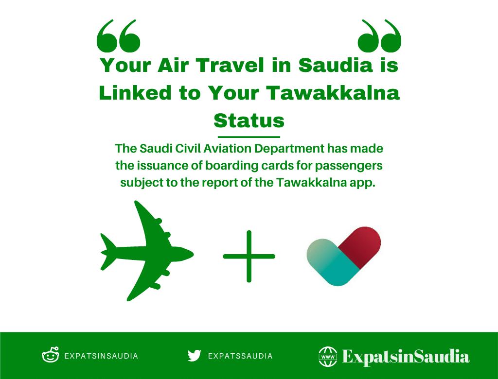 Tawakkalna Status for Air Travel