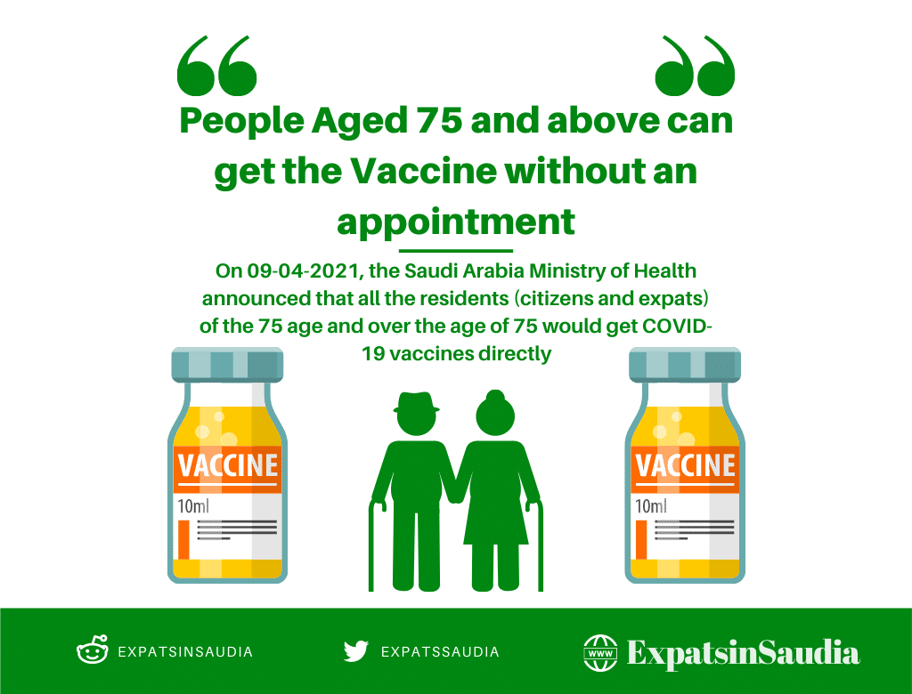 Vaccine for people aged 75