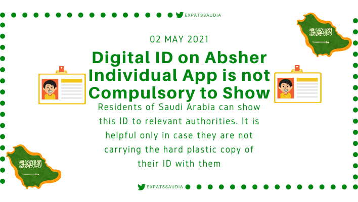 Digital ID on Absher Individual