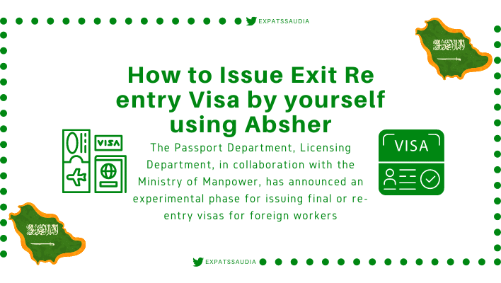 Exit Re Entry Visa Absher