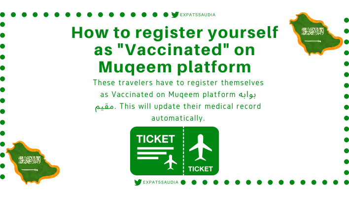 How to register yourself as vaccinated on the Muqeem platform