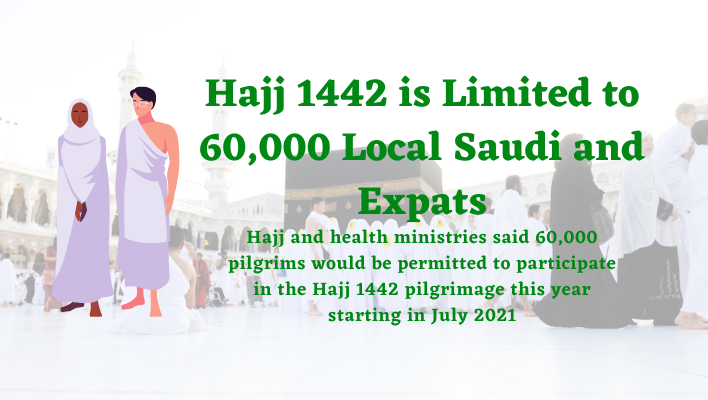 Hajj 1442 is Limited to 60,000 Local Saudi and Expats