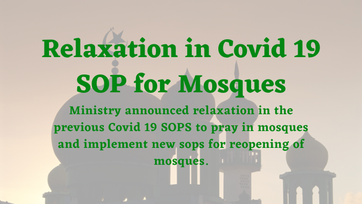 Updated Covid 19 SOP for Mosques