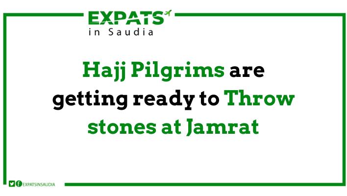Hajj Pilgrims are getting ready to Throw stones at Jamrat