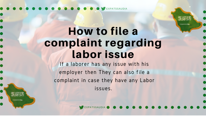 How to file a complaint regarding labor issue