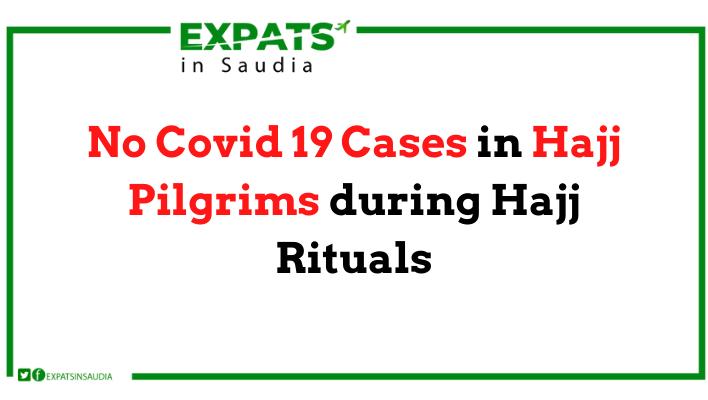 No Covid 19 Cases in Hajj Pilgrims during Hajj Rituals
