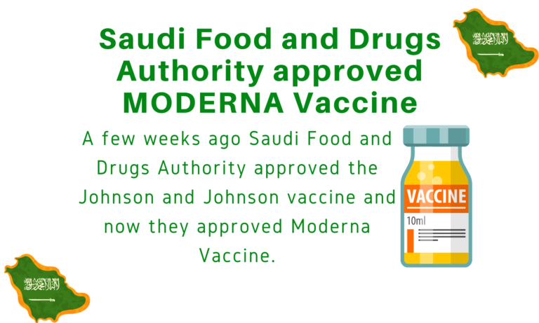 Saudi Food and Drugs Authority approved MODERNA Vaccine