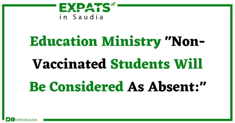 Education Ministry Non-Vaccinated Students Will Be Considered As Absent