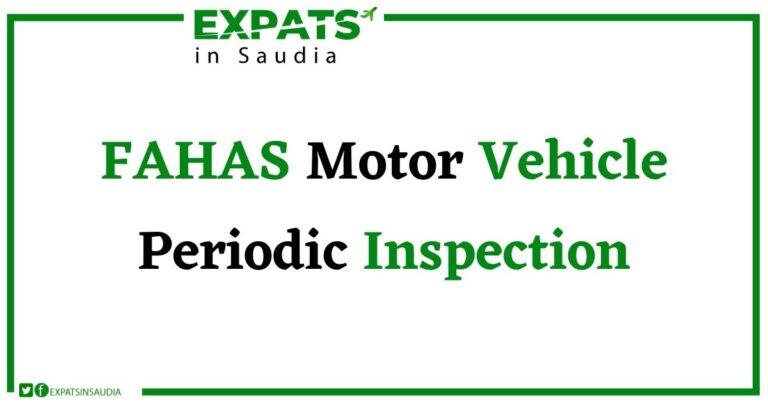 FAHAS (Motor Vehicle Periodic Inspection)