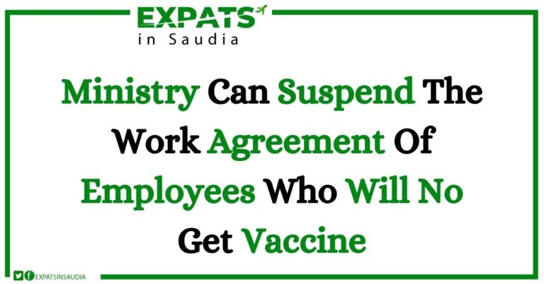Ministry Can Suspend The Work Agreement Of Employees Who Will No Get Vaccine