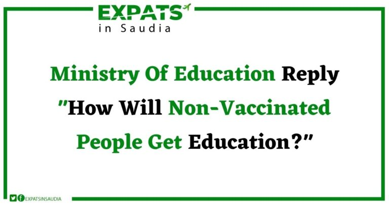 Ministry Of Education Reply How Will Non-Vaccinated People Get Education