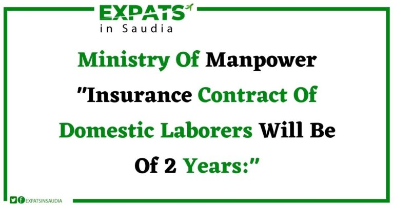 Ministry Of Manpower Insurance Contract Of Domestic Laborers Will Be Of 2 Years