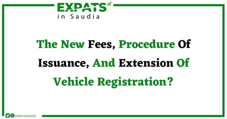 What Will Be The New Fees, Procedure Of Issuance, And Extension Of Vehicle Registration?