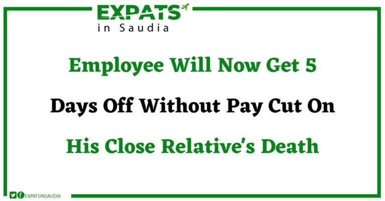 Employee Will Now Get 5 Days Off Without Pay Cut On His Close Relative's Death