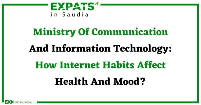 Ministry Of Communication And Information Technology: How Internet Habits Affect Health And Mood?