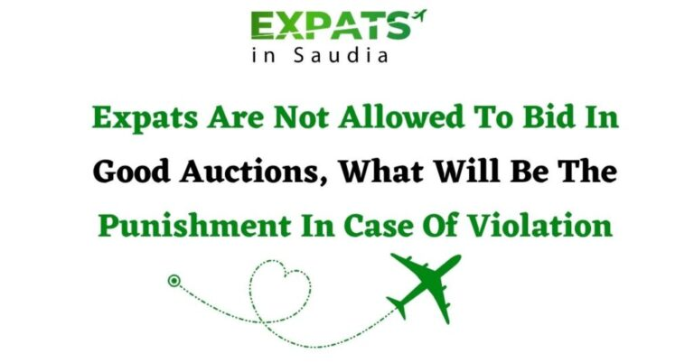 Expats Are Not Allowed To Bid In Good Auctions, What Will Be The Punishment In Case Of Violation